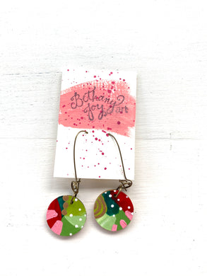 Colorful, Hand Painted Earrings 174