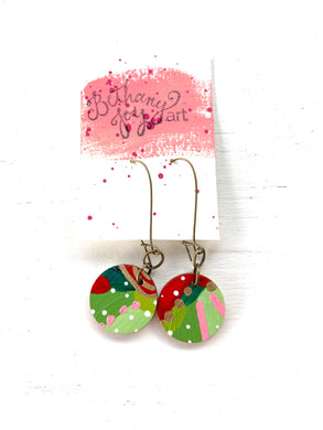 Colorful, Hand Painted Earrings 177