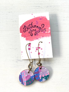 Colorful, Hand Painted Earrings 74