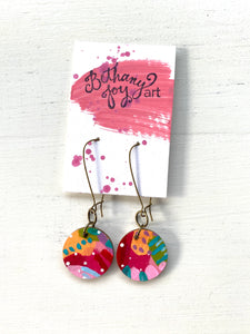 Colorful, Hand Painted Earrings 70