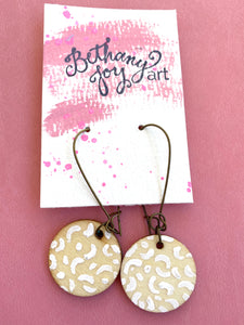 Colorful, Hand Painted Earrings 4 - Bethany Joy Art