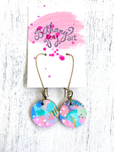 Load image into Gallery viewer, Colorful, Hand Painted Earrings 58 - Bethany Joy Art