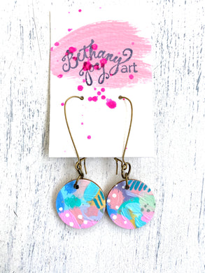 Colorful, Hand Painted Earrings 58 - Bethany Joy Art