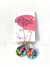 Load image into Gallery viewer, Colorful, Hand Painted Earrings 82