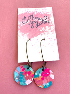 Colorful, Hand Painted Earrings 16 - Bethany Joy Art