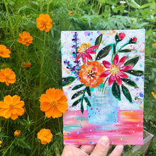 "Load image into Gallery viewer, August Daily Painting Day 21 ""A Walk Through the Garden"" 5x7 inch Floral Original - Bethany Joy Art"