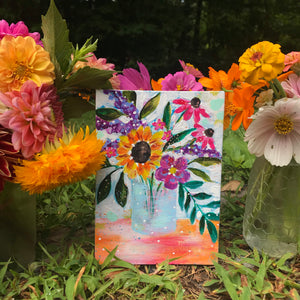 "August Daily Painting Day 8 ""It's a Smile"" 5x7 inch Floral Original - Bethany Joy Art"