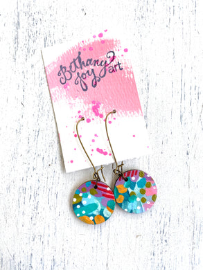 Colorful, Hand Painted Earrings 51 - Bethany Joy Art
