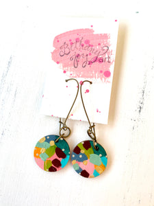 Colorful, Hand Painted Earrings 139