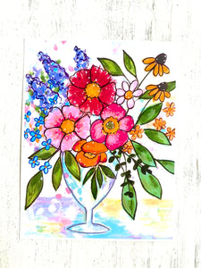 Bouquet of Joy 8.5x11 inch art print - Bethany Joy Art