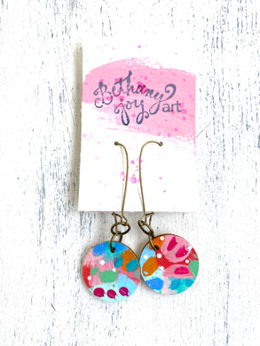 Colorful, Hand Painted Earrings 34 - Bethany Joy Art
