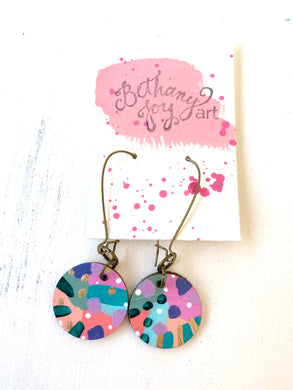 Colorful, Hand Painted Earrings 101