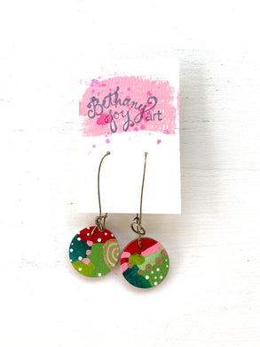 Colorful, Hand Painted Earrings 180