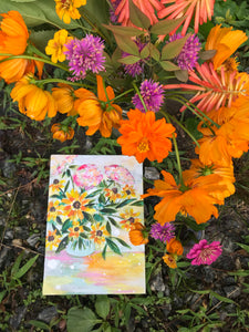 "August Daily Painting Day 10 ""Be The Sunshine"" 5x7 inch Floral Original - Bethany Joy Art"