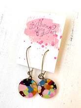 Load image into Gallery viewer, Colorful, Hand Painted Earrings 134