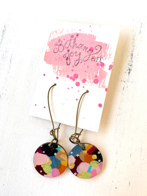 Colorful, Hand Painted Earrings 134