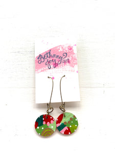 Colorful, Hand Painted Earrings 172