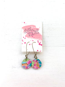 Colorful, Hand Painted Earrings 141