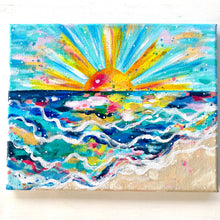 "Load image into Gallery viewer, ""Shimmer Rays"" 8x10 inch original painting on canvas"