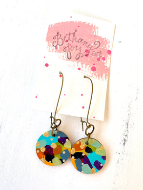 Colorful, Hand Painted Earrings 130