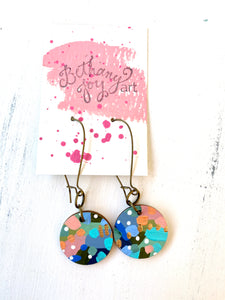 Colorful, Hand Painted Earrings 102