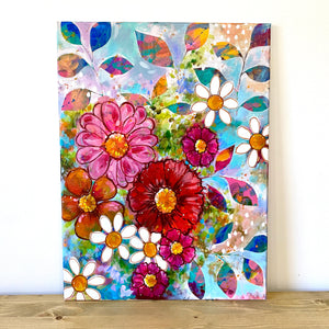 """All the Dreams in Your Heart"" Floral Original Painting on 24x20 inch canvas - Bethany Joy Art"