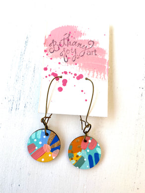 Colorful, Hand Painted Earrings 103