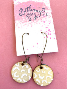 Colorful, Hand Painted Earrings 14 - Bethany Joy Art