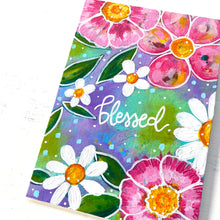 "Load image into Gallery viewer, August 2020 Daily Painting Day 24 ""Blessed Blooms"" 5x7 inch original"