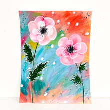 Load image into Gallery viewer, February Flowers Day 13 Anemone 8.5x11 inch original painting