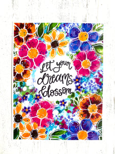Let your Dreams Blossom 8.5x11 inch art print - Bethany Joy Art