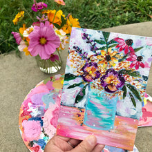 "Load image into Gallery viewer, August Daily Painting Day 30 ""Meet Me for Brunch"" 5x7 inch Floral Original - Bethany Joy Art"