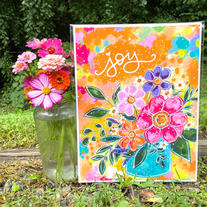 Sunshine Joy Bouquet 8.5x11 inch art print