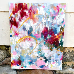 "Abstract Original Painting ""A Golden Shimmer"" 16x20 inch Canvas - Bethany Joy Art"
