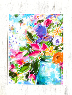 Sweet Springtime Bouquet 8.5x11 inch art print - Bethany Joy Art