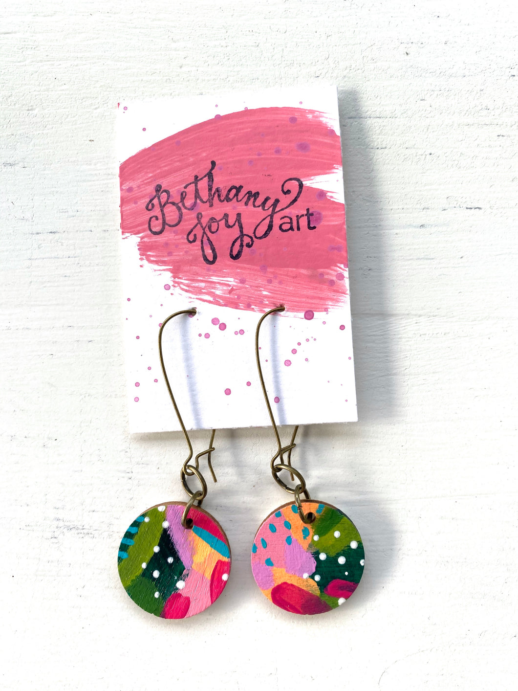 Colorful, Hand Painted Earrings 65