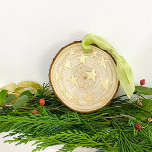 Hand-painted wooden ornament choose your word 15
