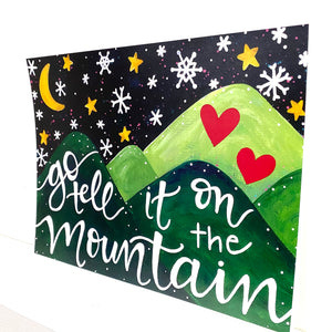 Go Tell it on the Mountain 8.5x11 inch holiday art print