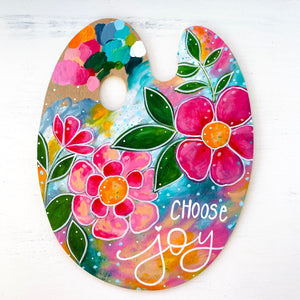 "Palette Original Painting 12 Days of Christmas Day 7""Choose Joy"""