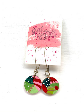 Colorful, Hand Painted Earrings 175