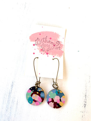 Colorful, Hand Painted Earrings 123