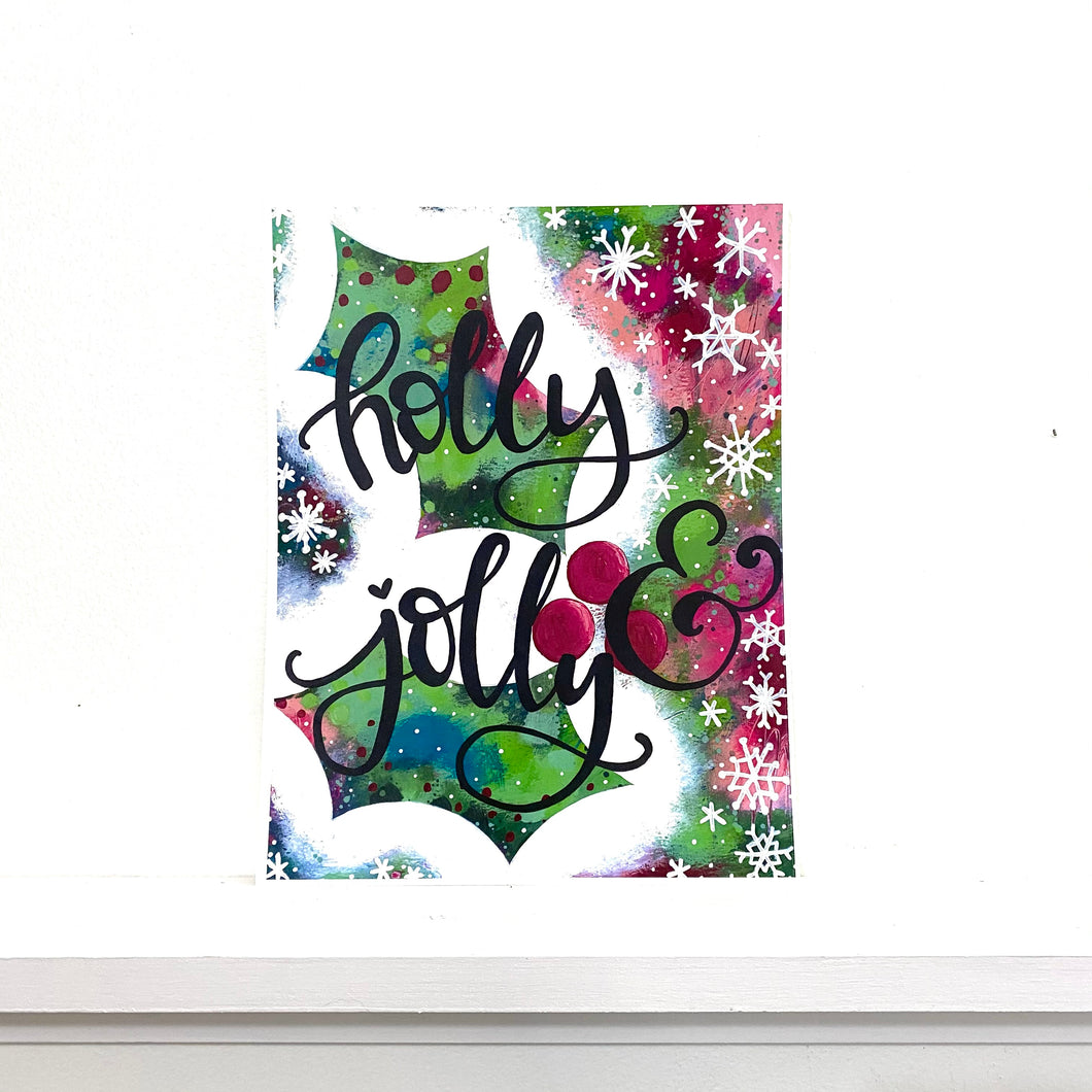 Holly & Jolly 8.5x11 inch holiday art print