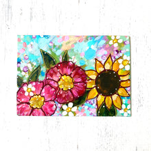 "Load image into Gallery viewer, January Daily Painting Day 12 ""Live by the Light"" 5x7 inch Floral Original - Bethany Joy Art"