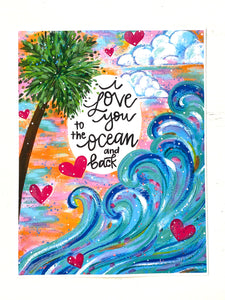 Love you to the Ocean and Back 8.5x11 inch art print