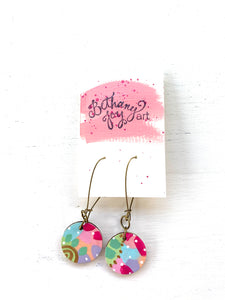 Colorful, Hand Painted Earrings 150