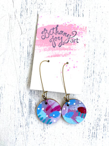 Colorful, Hand Painted Earrings 43 - Bethany Joy Art
