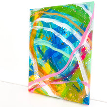 Load image into Gallery viewer, Waves of Color #1 5x7 inch abstract original canvas