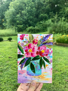"August Daily Painting Day 2 ""Sweet Majorie"" 5x7 inch Floral Original - Bethany Joy Art"