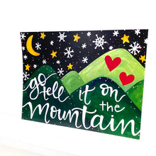Load image into Gallery viewer, Go Tell it on the Mountain 8.5x11 inch holiday art print