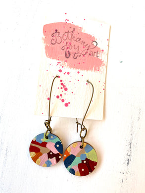 Colorful, Hand Painted Earrings 137